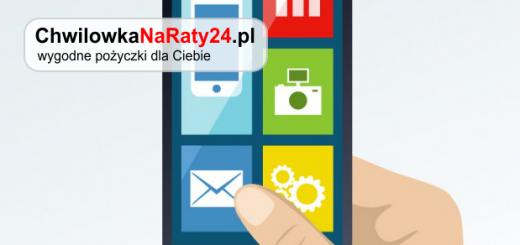 chwilówka na raty smartphone online ręka